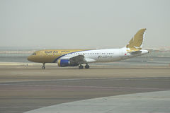 Airbus A320-214 (A9C-AM) Gulf Air At The Start In Abu Dhabi The Early Morning Stock Image