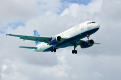 AIRBUS A320. JetBlue Airways in the air Royalty Free Stock Photo