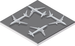 Airbus A320 Aircraft. Isometric view of a Airbus A320 Aircraft Royalty Free Stock Photography