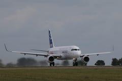 Airbus A320 com sharklets novos Imagem de Stock Royalty Free