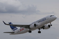Airbus A320 with new sharklets Royalty Free Stock Photos
