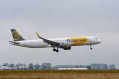 Free Airbus A321-251N From Primera Air Landing On Paris CDG Royalty Free Stock Photography - 125476407