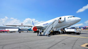 Airbus A330-200F cargo plane at Singapore Airshow Stock Photo
