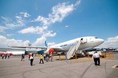 Airbus A330-200F in Singapur Airshow 2010 Lizenzfreies Stockbild