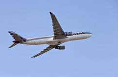 Airbus A330 Qatar Airlines Royalty Free Stock Images