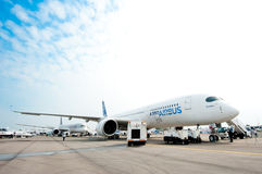 Airbus A350-900 at the Singapore Airshow 2014 Royalty Free Stock Images