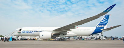 Airbus A350-900 at the Singapore Airshow 2014 Royalty Free Stock Image