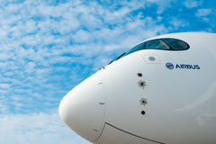 Airbus A350 at the Singapore Airshow 2014 Royalty Free Stock Photo