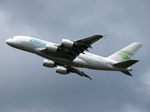 Airbus A380. The Airbus A380 double decked airliner Royalty Free Stock Photography