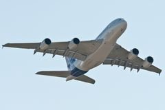 The Airbus A380 Stock Photo