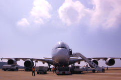 Airbus A380 Immagine Stock