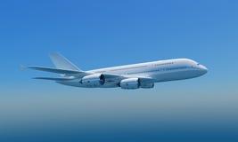 Airbus A380 con el camino de recortes Imagen de archivo