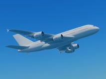 Airbus A380 con il percorso di residuo della potatura meccanica Immagine Stock