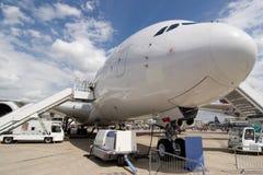 Airbus A380 en la tierra sin marcas registradas Foto de archivo libre de regalías
