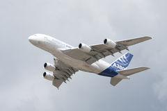 Airbus A380 Flypast stock image