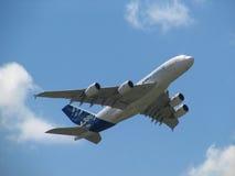 Airbus A380 o plano o maior Fotografia de Stock Royalty Free