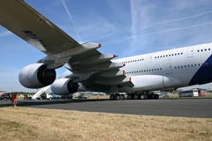 Airbus A380 preparation 2 Royalty Free Stock Images