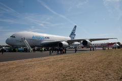 Airbus A380 preparation Stock Photography