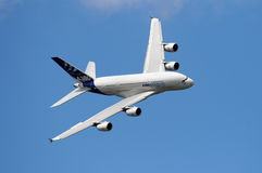 Airbus A380 in the sky Stock Photos