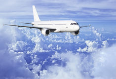 Airbus above clouds Stock Images