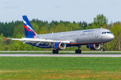 Airbus a321 Aeroflot, airport Pulkovo, Russia Saint-Petersburg May 2017. Stock Photo