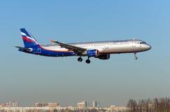 Airbus a321 Aeroflot, Flughafen Pulkovo, Russland St Petersburg im Mai 2017 Stockfoto