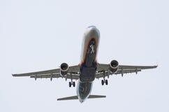 Airbus A320 Aeroflot Flughafen Pulkovo, Russland St Petersburg im Mai 2017 Lizenzfreie Stockfotografie