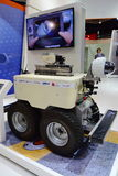 Airbus Air-cobot visual inspection robot on display at Singapore Airshow Royalty Free Stock Photo