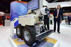 Airbus Air-cobot visual inspection robot on display at Singapore Airshow Royalty Free Stock Photography