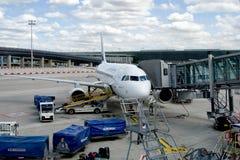 Airbus Air France A320 στον αερολιμένα Roissy Charles de Gaulle στοκ φωτογραφία με δικαίωμα ελεύθερης χρήσης
