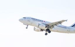 Airbus Air France A319 στον ουρανό στοκ φωτογραφία με δικαίωμα ελεύθερης χρήσης