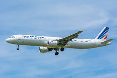 Airbus A321-200 Air France φ-GTAK αεροπλάνων Στοκ Εικόνες
