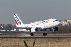 Airbus a319 Air France, aeroporto Pulkovo, Rússia St Petersburg maio de 2017 Foto de Stock