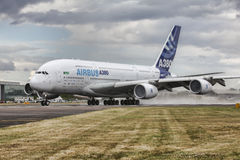 Airbus A380 aircraft Royalty Free Stock Photo