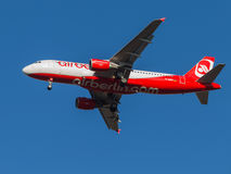Airbus A320, the airline Air Berlin Airlines Royalty Free Stock Photography