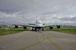 An Airbus A380 airplane from British Airways (BA) Royalty Free Stock Image