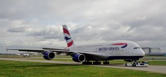 An Airbus A380 airplane from British Airways (BA) Stock Photography