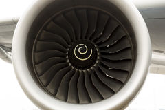 Airbus A380 airplane engine Stock Photos