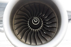 Airbus A380 airplane engine Stock Photography