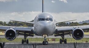 Airbus in Airport Royalty Free Stock Image
