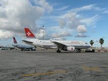 Airbus A-319, aria Malta Fotografia Stock Libera da Diritti