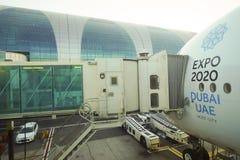Airbus atracado A380 Foto de archivo libre de regalías