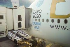 Airbus atracado A380 Foto de archivo