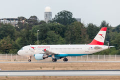 Airbus A320 of the Austrian Airlines Royalty Free Stock Photography