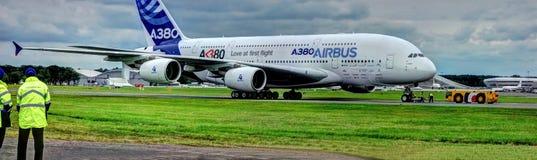 A380. Airbus A380 big jumbo aircraft royalty free stock photo