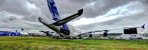 A380. Airbus A380 big jumbo aircraft stock photo