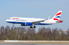 Airbus a319 British airways, aeroporto Pulkovo, Rússia St Petersburg maio de 2017 Fotos de Stock