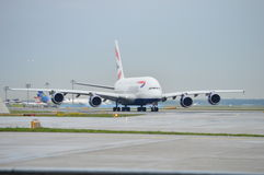 AIRBUS A-380 BRITISH Stock Image