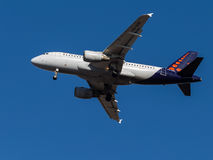 Airbus A319, Brussels Airlines Fotografia de Stock Royalty Free