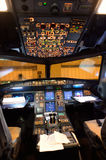 Airbus A320 cockpit interior Royalty Free Stock Photos